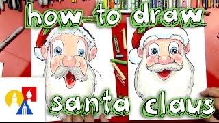 getlinkyoutube.com-How To Draw Santa Claus's Face