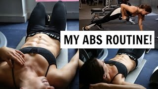 6 PACK ABS WORKOUT | MY GYM ROUTINE