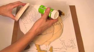 getlinkyoutube.com-Kathy Wise Intarsia woodworking with Satellite City instant glues
