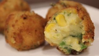 getlinkyoutube.com-Cheese Corn Balls | Starters | Simply Jain