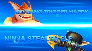 getlinkyoutube.com-Skylanders Swap Force PVP - Big Bang Trigger Happy VS Ninja Stealth Elf