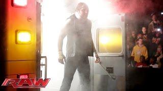 getlinkyoutube.com-Dean Ambrose surprises Bray Wyatt from the back of an ambulance: Raw, December 8, 2014