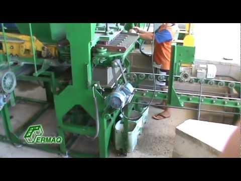 Máquina Hidráulica para Pisos e Blocos - Modelo MBHD4 - Semi Automática