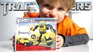 getlinkyoutube.com-Transformers Car-Robot from Kre-O Hot Wheels Car from Kinder Surprise Egg
