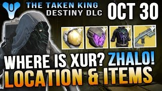Xur Location October 30 2015 Destiny Where is Xur 10/30/15 Zhalo Supercell & More!