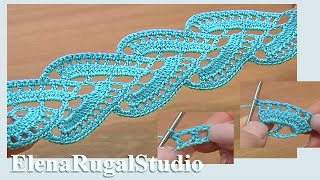getlinkyoutube.com-Stripy Lace to Crochet Tutorial 1 Part 2 of 2 Crochet Tape Lace