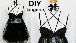 getlinkyoutube.com-DIY Sexy Baby Doll Harness Lingerie (Hand-sew) Out of a Bra