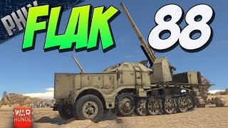 getlinkyoutube.com-FLAK 88 HALF-TRACK - 5 Second 88mm Reload - (War Thunder Tank Gameplay)
