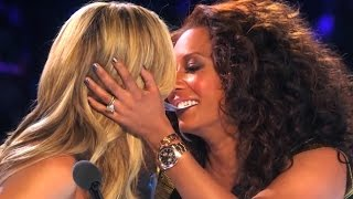 getlinkyoutube.com-America's Got Talent Finals YOUNG MAGICIAN GETS HEIDI & MEL B TO KISS | Collins Key