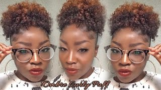 getlinkyoutube.com-Ombre Curly Puff| Milky Way Q-Coil Curl