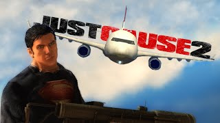getlinkyoutube.com-JUST CAUSE 2 | Superman! (Funny Gaming Moments)
