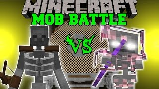 getlinkyoutube.com-MUTANT SKELETON VS SKELE-TON - Minecraft Mob Battles - Mods