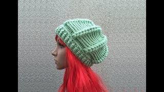 getlinkyoutube.com-How to Crochet a Beret Beanie Hat Pattern #13 │ by ThePatterfamily