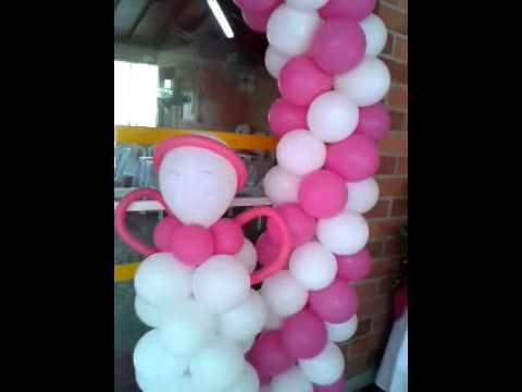 IDEAS DECORACION PRIMERA COMUNION CON GLOBOS