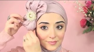 getlinkyoutube.com-Hijab Tutorial Pretty Bow Turban - From My Ariana Grande Makeup Tutorial