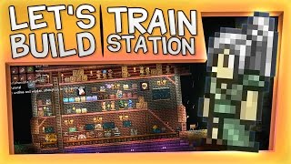 Terraria - Let's Build A Train Station (And Fight The Pirate Invasion)