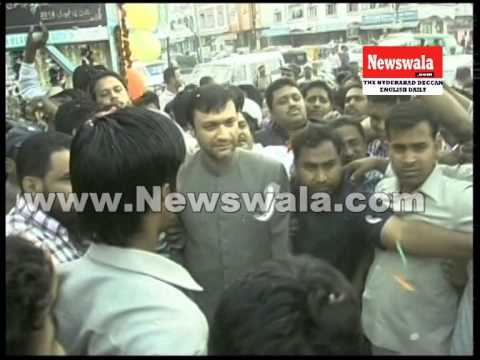 Akbaruddin Owaisi visited Gulshan e Iqbal Colony, Hafiz Baba Nagar
