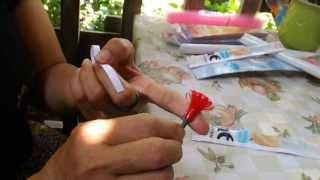 getlinkyoutube.com-ทำดอกไม้จากซองน้ำยาปรับผ้านุ่ม (หอมๆ)