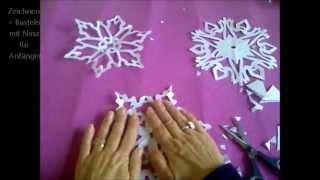 getlinkyoutube.com-Schneeflocken, Schneesterne oder Schneekristalle basteln. Ideen  für Weihnachtsdeko