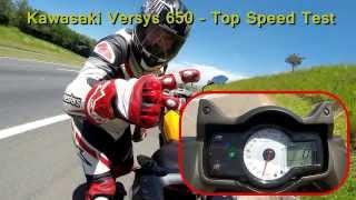 getlinkyoutube.com-Versys 650 - 220Km/h & Knee Down