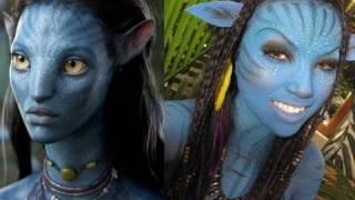 getlinkyoutube.com-'Neytiri 'Avatar Halloween  Make-upTutorial ..!!!