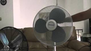 "getlinkyoutube.com-16"" Honeywell Oscillating Stand Fan Model HS-1600"