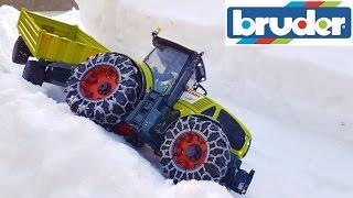 BRUDER RC tractors snow transport!