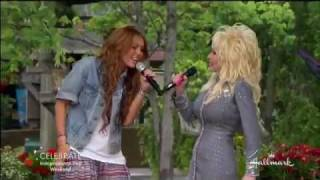 Miley Cyrus and Dolly Parton Singing 'Jolene' width=