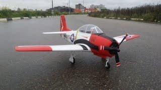 getlinkyoutube.com-Радиоуправляемый самолет Eleven Hobby T-28 Trojan