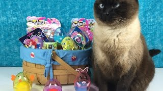getlinkyoutube.com-Surprise Easter Basket Blind Bag Shopkins MLP Minecraft Play-Doh Eggs & More