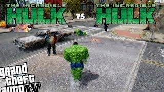 GTA 4 Green Hulk Mod - Incredible Hulk vs Incredible Hulk New Mods Installed (+Webcam)