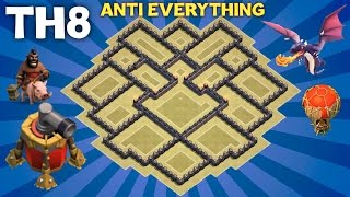 getlinkyoutube.com-Clash of Clans - BEST TH8 WAR BASE Town Hall 8 ANTI EVERYTHING Defense with AIR SWEEPER
