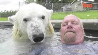 getlinkyoutube.com-북극곰과 수영할수 있는 세계에서 유일한 남자