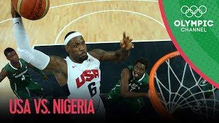 getlinkyoutube.com-USA v Nigeria - USA Break Olympic Points Record - Men's Basketball Group A | London 2012 Olympics