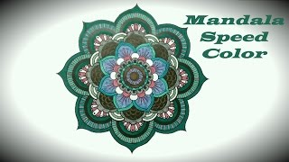 getlinkyoutube.com-Speed Art- Mandala Coloring