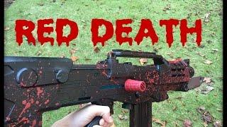 getlinkyoutube.com-NERF MOD: Destiny's Red Death Replica (Blood Splattered Pulse Rifle)