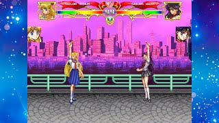 getlinkyoutube.com-【TsukinoAi+】MUGEN Char : Sailor Mars(AI) VS Sailor Venus (AI)