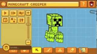 getlinkyoutube.com-Scribblenauts Unlimited Wii U Object Editor 14 Minecraft Creeper