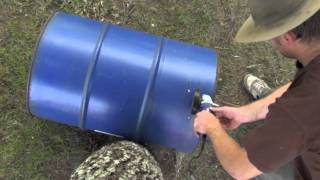 getlinkyoutube.com-How to make a 44 gallon WOOD HEATER / INCINERATOR