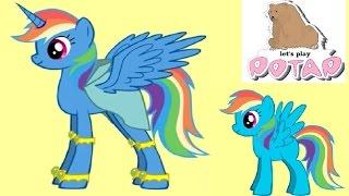 getlinkyoutube.com-Рейнбоу Дэш Превращается в Пони Аликорн в Пони Креаторе Игры для Девочек