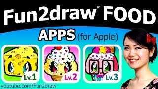 Great for Back to School ❤ Fun2draw FOOD Apps for Apple + FREE GIFT Drawing for Teachers + school