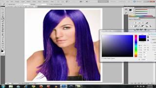getlinkyoutube.com-How to Change Hair Color in Photoshop CS5