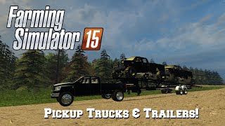getlinkyoutube.com-Farming Simulator 2015: Mod Spotlight #59: Pickup Trucks & Trailers!