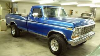 getlinkyoutube.com-1979 Ford F250 4x4 Custom Lifted Pick-up - Very Nicely Restored