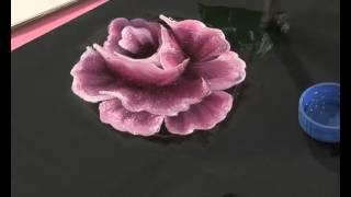 getlinkyoutube.com-Pintar rosas y hojas - Pinceladas - Silvia Mongelos