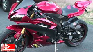 getlinkyoutube.com-YAMAHA YZF-R6 with Two Brothers Exhaust (Walk Around & Start-Up) Video