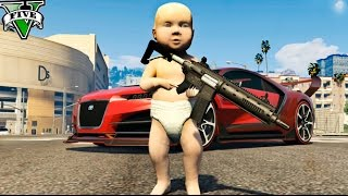 getlinkyoutube.com-UN BEBE EN GTA !! EL BEBE MAS RICO DE GTA 5 MODS PC Makiman