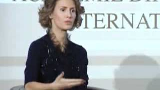 getlinkyoutube.com-Syria's First Lady Asma Al Assad In Paris Part 4 -2010(Inetrnational Diplomatic Academy)