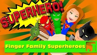 getlinkyoutube.com-Finger Family Superheroes! | Nursery Rhymes | Kids Songs |   Jaccoled