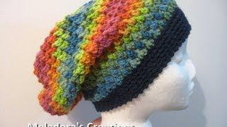 getlinkyoutube.com-Butterfly Stitch Slouch Hat - Crochet Tutorial